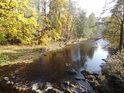 Řeka Divoká Orlice v obci Klášterec nad Orlicí