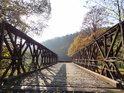 Železný most přes Divokou Orlici v Klášterci nad Orlicí.