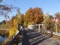 Ocelový most přes levobřežní přítok Divoké Orlice, potok Orlička.
